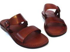 Leather Sandals DOUBLE Unisex Shoes Jesus Sandals by Sandalimshop