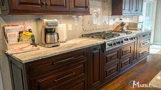 marble brown fantasy quartzite countertops kitchen