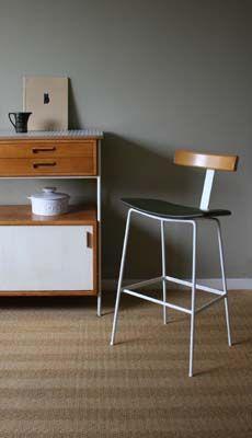C32 breakfast stool  Frank Guille for Kandya Ltd, 1958