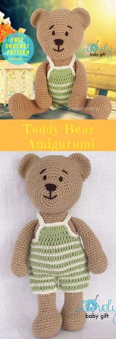 "Amigurumi #TeddyBear #FreeCrochetPattern | Today we show you wonderful amigurumi animal. This Teddybear is really easy to do, but one question, you have to know the basic terms of crocheting. #CrochetAnimal #Amigurumi | size: 12"" (31cm) high | Written & Tutorial | US Terms Level:beginneryarn: Sportor worsted weight Hook: 2.75 mm (C)Author: Viktorija Dineikiene."