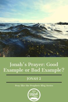 Jonah's Prayer: Good Example or Bad Example? - Read the Hard Parts Christian Living, Christian Women, Christian Life, Bible Study Guide, Study Tips, Learning To Pray, Learning Activities, Scripture Memorization, Bible Resources