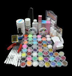 BTT-83Acrylic Liquid Nail Art Brush Glue Glitter Powder UV Gel Tool Set Kit Tip