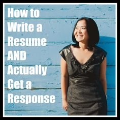 How to Write a Resume AND Actually Get a Response #jobsearch #resume #jobs