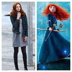 """Amy Pond = Merida   And Now For """"Doctor Who"""" Companions And Their Disney Princess Counterparts"""