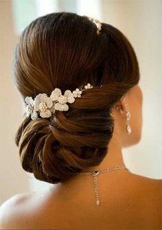 Bridal hair style, www.lolomoda.com