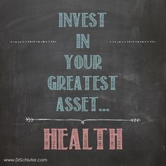 Your health tomorrow depends on what you do today! #GetAdjusted #Chiropractic http://www.DrSchluter.com