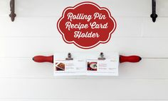 A vintage rolling pin gets a new look and a new purpose as a charming recipe card holder!