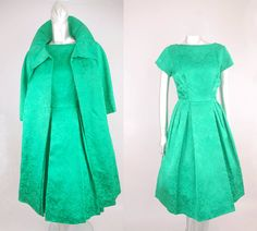 Lila silk brocade dress  vintage 1950s dress   by ErstwhileStyle