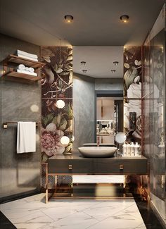 The bathroom shouldnt be forgotten when creating a beautiful home. The right mix of textures and materials can make. Washroom Design, Bathroom Design Luxury, Toilet Design, Modern Luxury Bathroom, Modern Bathrooms, Home Room Design, Home Interior Design, Interior Architecture, House Design