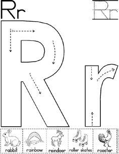 Alphabet Letter R Worksheet | Standard Block Font | Preschool Printable Activity