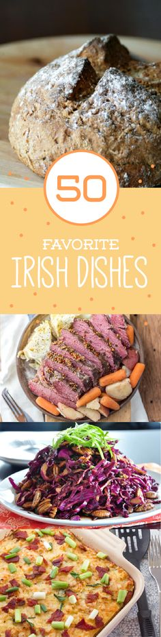 The Irish indulge on more than just potatoes. Check out this list of 50 all time favorites, including Bangers & Mash and Shepherd's Pie.