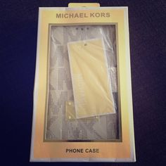 MK iphone 6 wallet case/ wristlet Brand new in box, Michael Kors iphone 6 wallet case with card and cash slots and wrist strap. Michael Kors Accessories Phone Cases