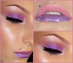 Purple glitter mania.
