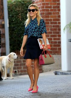 Fri-yum! Reese Witherspoon was spotted leaving her office in Beverly Hills, California, on Friday afternoon with a couple of cookbooks tucked under her arm