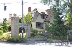 Beautiful home on a corner lot in the Laurelhurst neighborhood in Portland, Oregon. Bus Ride, Corner Lot, Portland Oregon, Beautiful Homes, The Neighbourhood, Mansions, House Styles, House Of Beauty, Luxury Houses