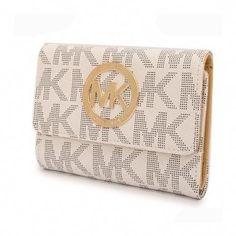 0b118c7e9085 Michael Kors Fashion Logo Signature Large Vanilla Wallets   Handbagsmichaelkors Cheap Michael Kors