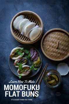 How to make Momofuku style flat buns-Made famous by Momofuku in NYC now you can easily make this flat steamed buns folded in half at your very own kitchen and sandwich whatever your heart desires in between those fluffy buns