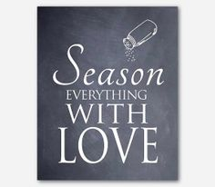 Kitchen Wall Art  Season everything with by SusanNewberryDesigns, $15.00