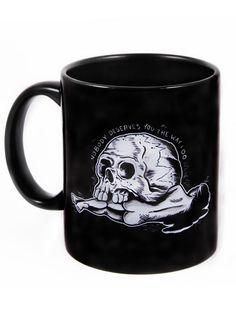 """""""Skull Crush"""" Mug by Matt Kerley for Inked (Black)"""