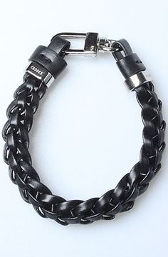 Crooks and Castles The Braided Bracelet in Black : Karmaloop.com - Global Concrete Culture