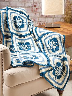 Free Crochet Pattern Download -- This Blueberry Parfait Afghan, designed by Tanis Galik, is featured in episode 1, season 5 of Knit and Crochet Now! TV. Learn more here: https://www.anniescatalog.com/knitandcrochetnow/patterns/detail.html?pattern_id=9&series=2