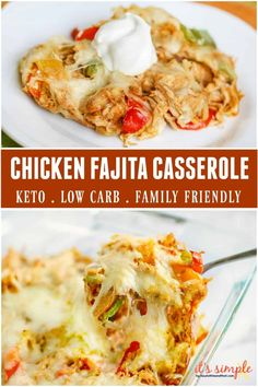 Chicken Fajita Casserole, Chicken Fajitas, Chicken Fajita Recipe, Taco Soup, Chicken Enchiladas, Poulet Keto, Mexican Food Recipes, Healthy Recipes, Low Cal Chicken Recipes