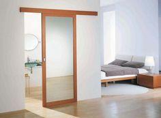 pose de porte en galandage façon cloison japonaise | cloison ... - Poser Une Porte Coulissante Dans Une Cloison
