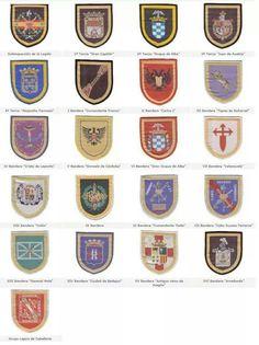 Todas las banderas de la Legión. Cops, Graphic Design, Nike, Special Forces, Wands, Flags, Spanish, Visual Communication