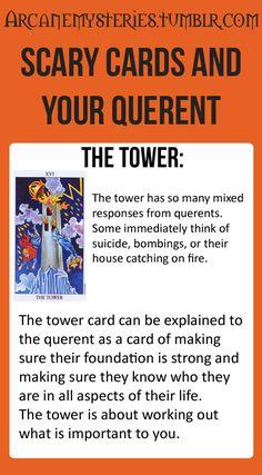 Tarot Tips. The Tower - http://arcanemysteries.tumblr.com/