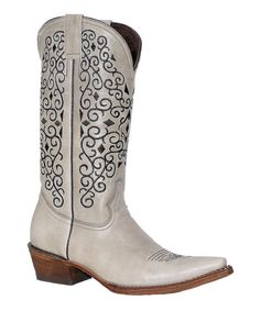 Look at this Pecos Bill Leather Cowboy Boot on #zulily today!