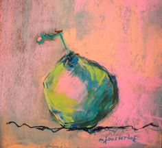 """99 pears later..."" day 26 pastel 20x20 cm Marie-France OOSTERHOF"
