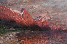 HAPPY BIRTHDAY Adelsteen Normann (1 May 1848 - 26 December 1918)[1] was a Norwegian painter who worked in Berlin. He was a noted painter of landscapes of Norway.[2] Normann was the artist who invited Edvard Munch to Berlin, where he painted The Scream.[3] Normann's fjord paintings are credited with making the Norwegian fjords a more popular tourist destination.