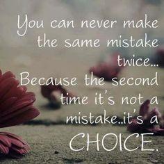 Mistake vs Choice