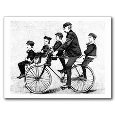 Get your hands on a customizable Bicycle postcard from Zazzle. Find a large selection of sizes and shapes for your postcard needs! Tandem Bicycle, Scooter Bike, Bicycle Illustration, Neo Victorian, Super Dad, Vintage Bicycles, Retro Futurism, Vintage Images, Photo Art
