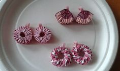 Earrings by quilling