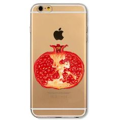 Lovely Fruit Pomegranate Phone Case Iphone 6 Plus This is for Iphone 6 Plus and 6s Plus (Not Iphone 6 or 6s). Soft Silicon Clear Case Cover with Lovely Print. Brand new. High Quality. Easy access to all buttons, controls and ports without having to remove the bumper. Fashion design, easy to put on and easy to take off. No trade. Feel free to browse my closet. Accessories Phone Cases