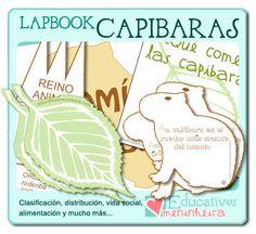 Plantillas para elaborar un lapbook sobre las capibaras -español-