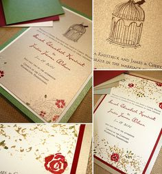 birdcage and roses wedding invitations - Bing Images