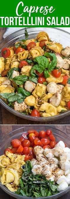 Nutritious Snack Tips For Equally Young Ones And Adults A Tortellini Caprese Pasta Salad Has Tortellini, Basil, Tomatoes And Mozzarella With A Balsamic Dressing. It's An Easy And Delicious Pasta Salad Recipe Perfect For Summer Via Crazyforcrust Pasta Salad With Tortellini, Tortellini Recipes, Pasta Salad Italian, Pasta Recipes, Recipes Dinner, Cooking Recipes, Ensalada Caprese, Caprese Pasta Salad, Easy Pasta Salad Recipe