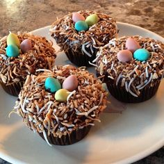 """Easter Nests I """"Super cute! The toasted coconut is a wonderful idea!"""""""