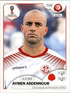 Aymen Abdennour - Tunísia World Cup Russia 2018, World Cup 2018, Fifa World Cup, Football Stickers, Football Cards, Baseball Cards, Football Mexicano, Jersey Atletico Madrid, Soccer