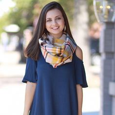 Fav Fall Colored Infinity Scarf from Cousin Couture.