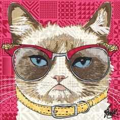 Grumpy Cat Card by Rose Hill. Purrfect (sorry!) on its own, but you can make it even more welcome by attaching a video!