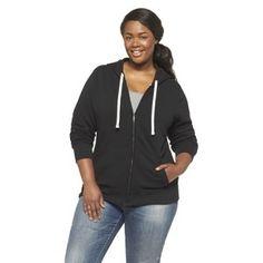 Plus Size Long Sleeve Fleece Hoodie-Mossimo Supply Co