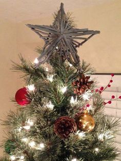 Tree toppers, Star tree topper and Stars on Pinterest