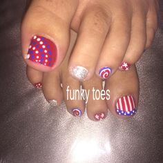 #nailart #funkytoes