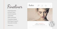 WP Theme Of the Day #79 – Fineliner – Super Clean Responsive Portfolio WordPress Theme