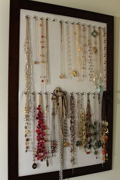 Cork board necklace organizer necklaces pinterest cork boards krimey kreations craft do it yourself necklace organizer solutioingenieria Gallery