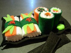 Felt Sushi Set by TheLavenderPeacock on Etsy, $25.00