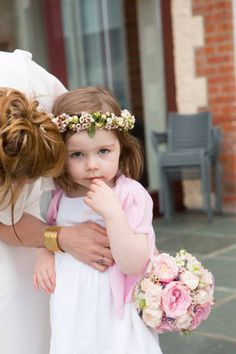 she wore flowers in her hair...  Photography by http://birdsofafeatherphoto.com/  Florals by http://appassionata.ie/